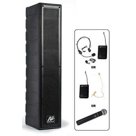 AMPLIVOX SOUND SYSTEMS SW1234 Amplified Speaker, 50W, 15V Amplivox Portable Sound Systems