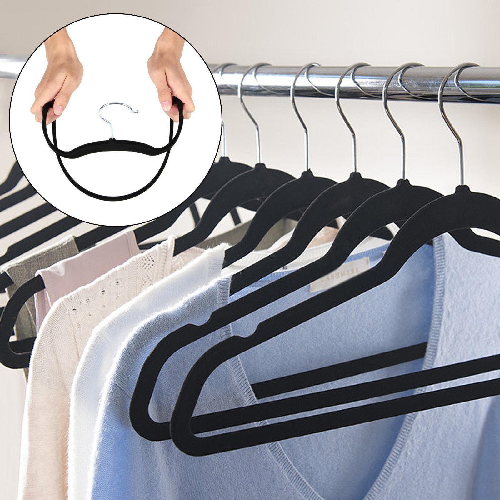 Ktaxon Premium Velvet Suit Clothes Hangers 10 Pack Heavy Duty Non Slip Black by Utopia