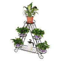 3-tier A Frame Plant Pot Stand with Bottom Shelf