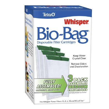 Tetra Whisper Bio Bag Disposable Filter Cartridges 3 Count For Aquariums Medium