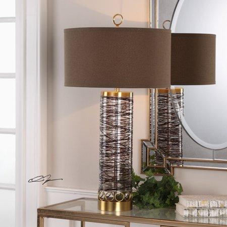 Spoon Lamp (Uttermost Seaver Spun Glass Table)