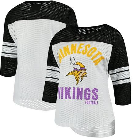 Minnesota Vikings G-III 4Her by Carl Banks Women's First Team Three-Quarter Sleeve Mesh T-Shirt - - Aqua Team Carl