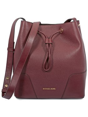 5ea5cb389ccf Product Image Michael Kors Pebbled Leather Bucket Bag- Oxblood