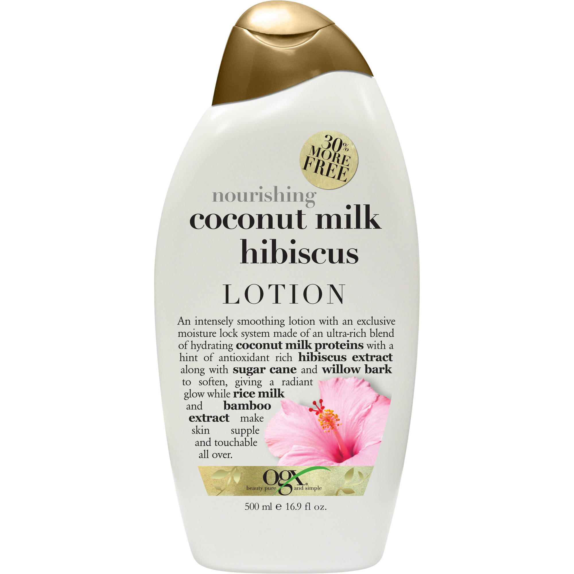 OGX Coconut Milk Hibiscus Lotion, 16.9 fl oz