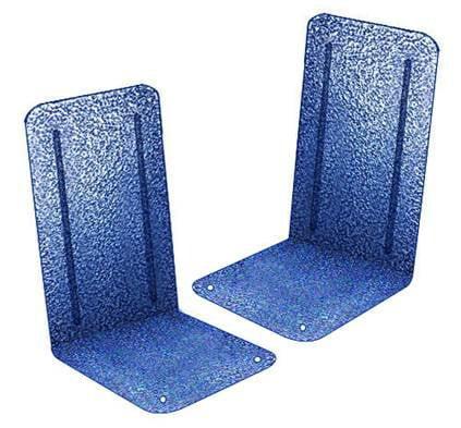 Acrimet Platinum Bookends (Blue Platinum) (1 Pair Pack)