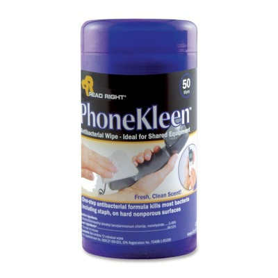 Read Right PhoneKleen Cleaning Wipes REARR1403