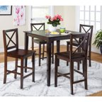 Homelegance Saddle Back 5 Piece Counter Height Dining