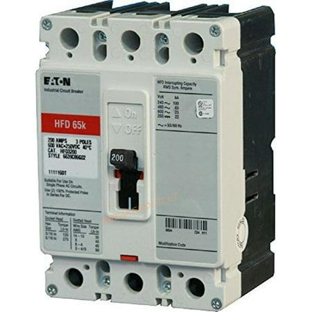 Cutler Hammer Eaton HFD3150 3 Poles 150 Amp 600v 65k Circuit Breaker HFD