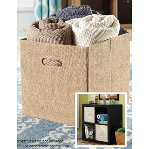 Better Homes and Gardens Collapsible Fabric Storage Cube Set of 2
