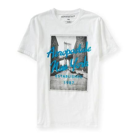 6eec3ebc Aeropostale - Aeropostale Mens Brooklyn Bridge Graphic T-Shirt - Walmart.com