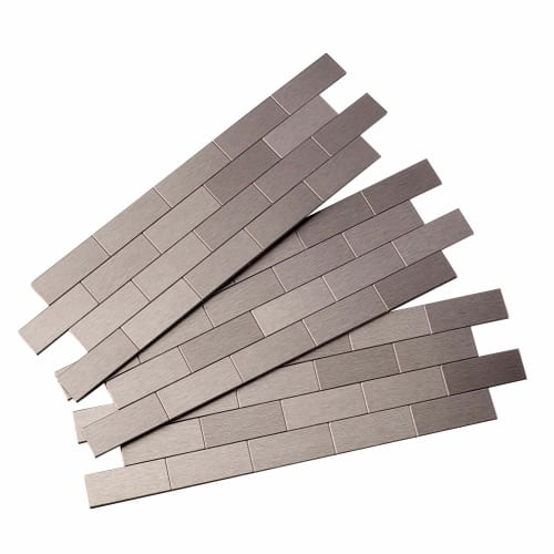 "ACP A95 Aspect - 12-1/2"" x 4"" Subway Wall Tile - Metal Visual - Sold by Piece"