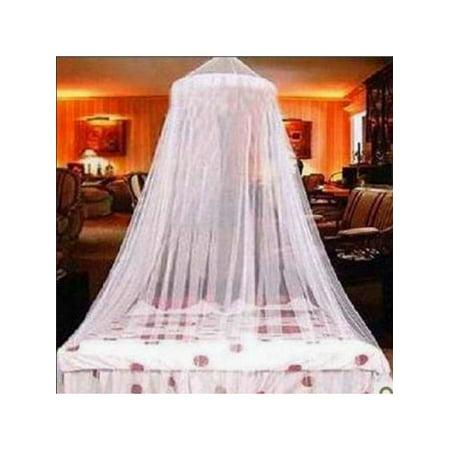 MarinaVida Elegant Lace Bed Mosquito Netting Mesh Canopy Princess Round Dome Bedding Net ()