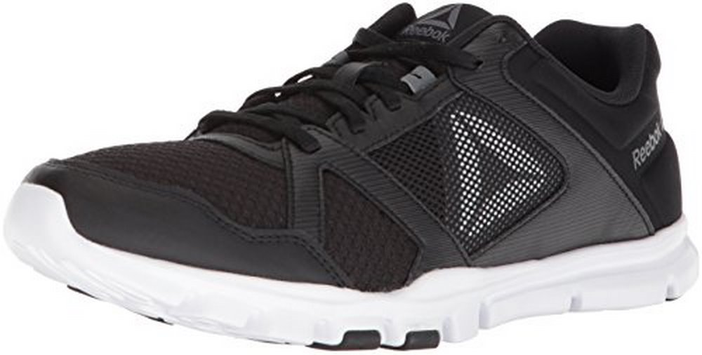 Reebok Mens YOURFLEX TRAIN 10 MT, BLACK/WHITE/ALLOY