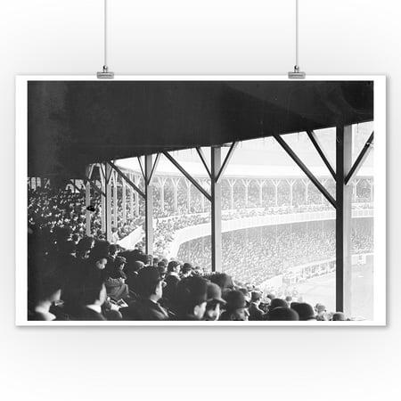 Ny Giants Room Decor (Boston Braves vs. NY Giants, Baseball Photo (9x12 Art Print, Wall Decor Travel)