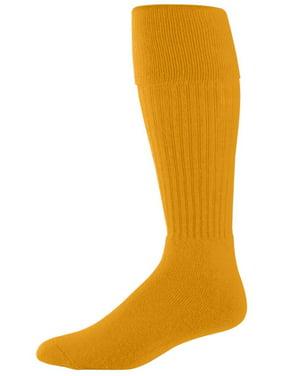 Augusta Sportswear Men's Knee-length Soccer Sock, Gold, 7-9