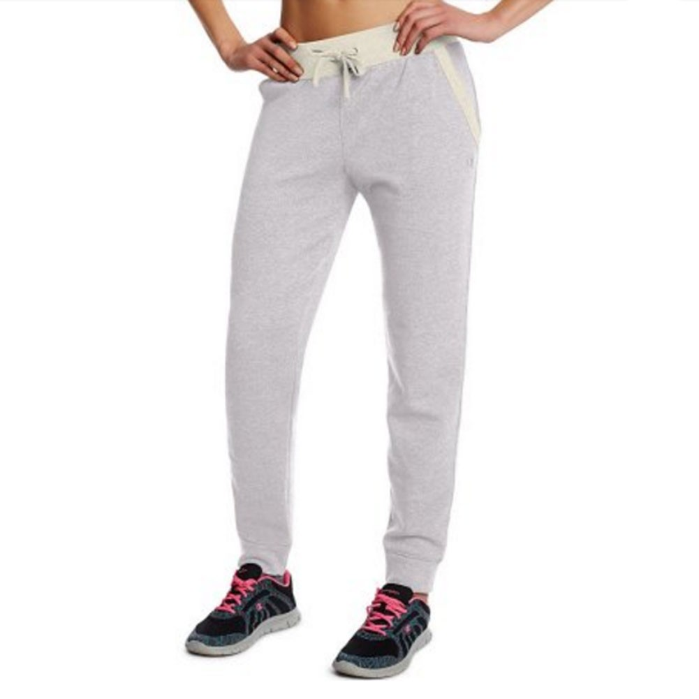 Champion Womens Grey Adjustable Waist Cotton Blend Jogger Sweatpants