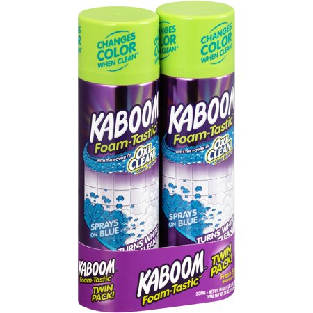 Aerosol Foam (Kaboom Foam-Tastic Fresh Scent Bathroom Cleaner Twin Pack 2-19 oz. Aerosol)