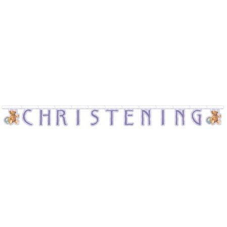 Christening Banner (Vintage Nursery Christening Jointed Letter)
