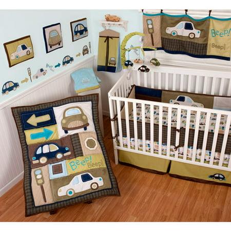 Sumersault Classic Cars Crib Set