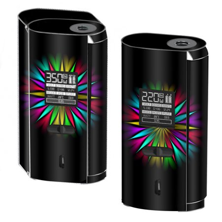 Skins Decals For Smok Gx2/4 350W Tc Vape / Neon Flower Trippy Shape - Flower Shapes
