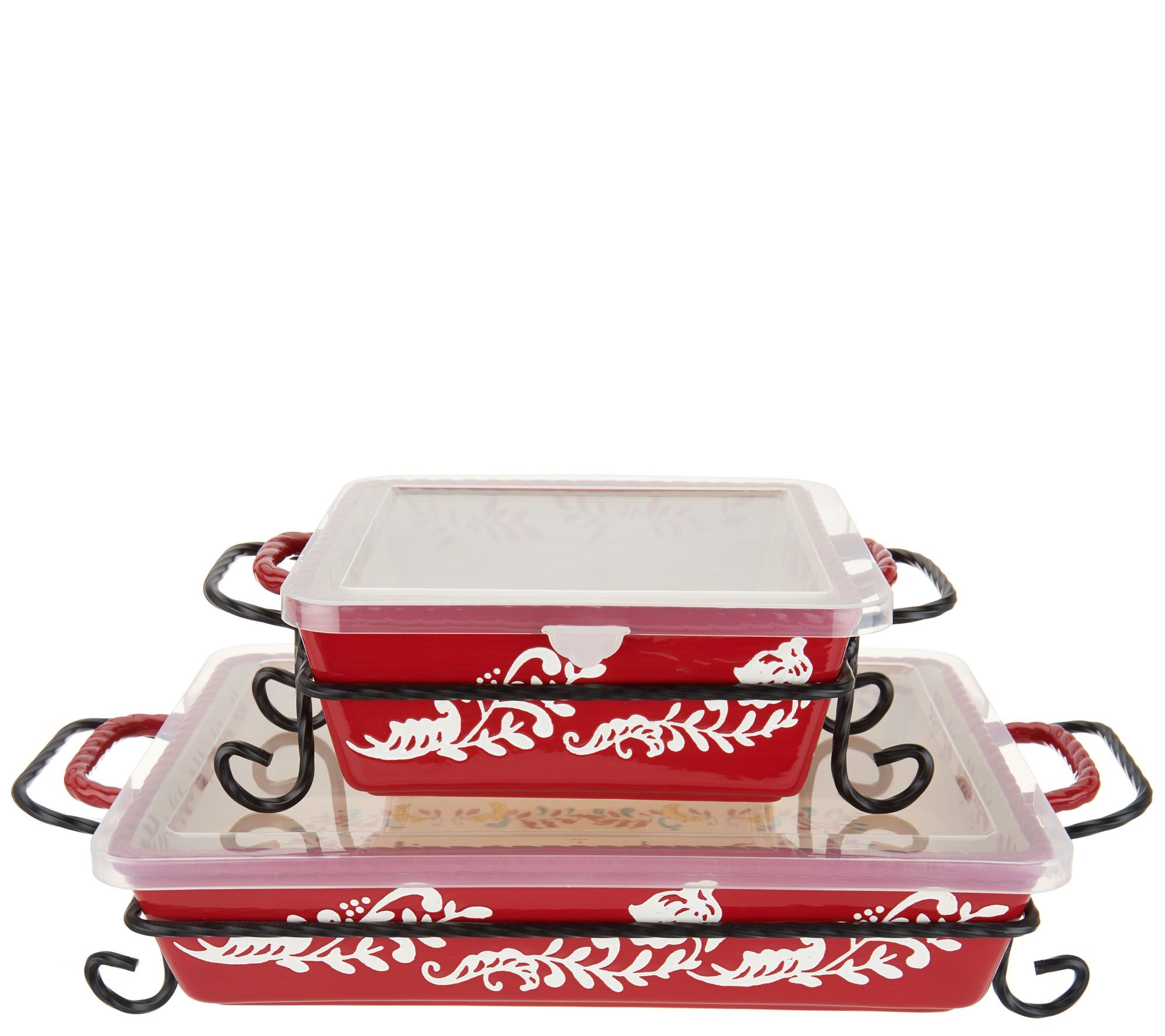 Valerie Bertinelli 4 Piece Bake Serve Set W Lids Model K46773 Walmart Com Walmart Com