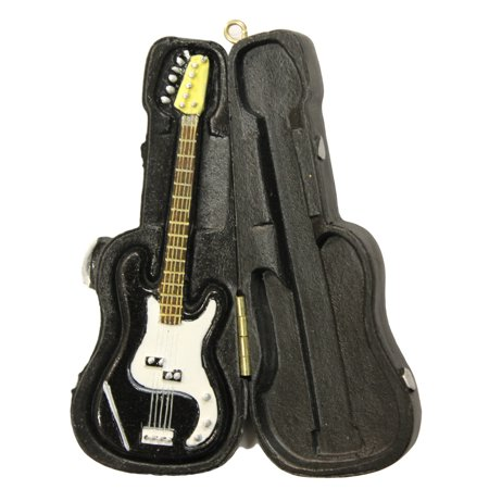 Christmas Decoration Music Lovers Black Electric Guitar in Case (Christmas Electric Ornaments)