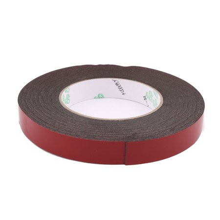 Unique Bargains 15mmx1mm Double Sided Sponge Tape Adhesive Sticker Foam Glue Strip Sealing 10M - image 2 of 3