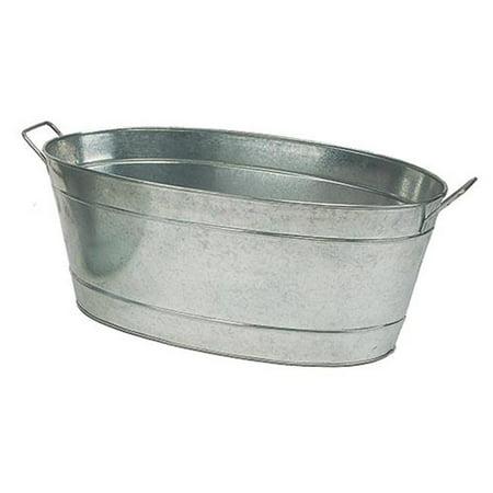 Galvanized Oval Tub (Large Oval Galvanized Steel Tub - Galvanized Steel)