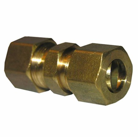 0.375 x 0.25 in. Brass Compresion Union