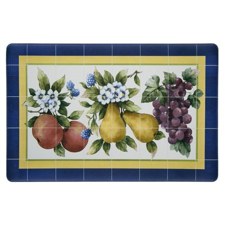Achim Anti Fatigue Kitchen Mat, 18x30 - Fruity Tiles