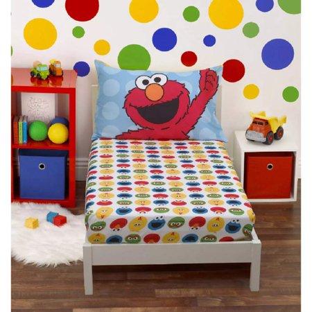 Sesame Street 2 Piece Toddler Sheet Set ( For Toddler Beds Only ) Sesame Street Sheer
