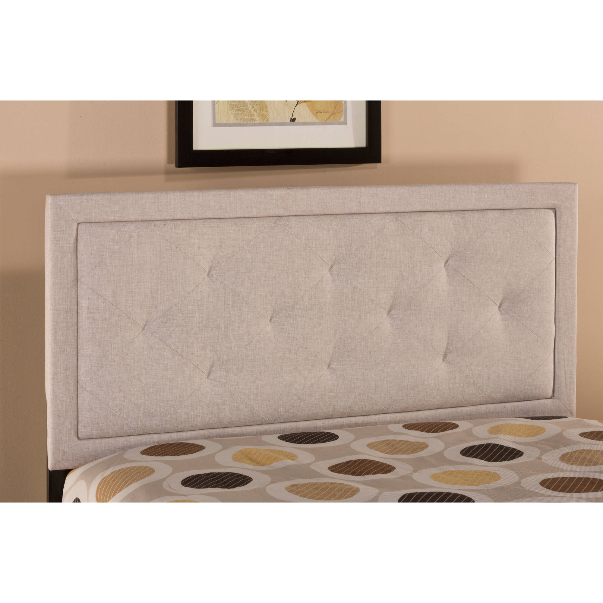 Hillsdale Furniture Becker King Headboard with Bedframe, Cream by Hillsdale
