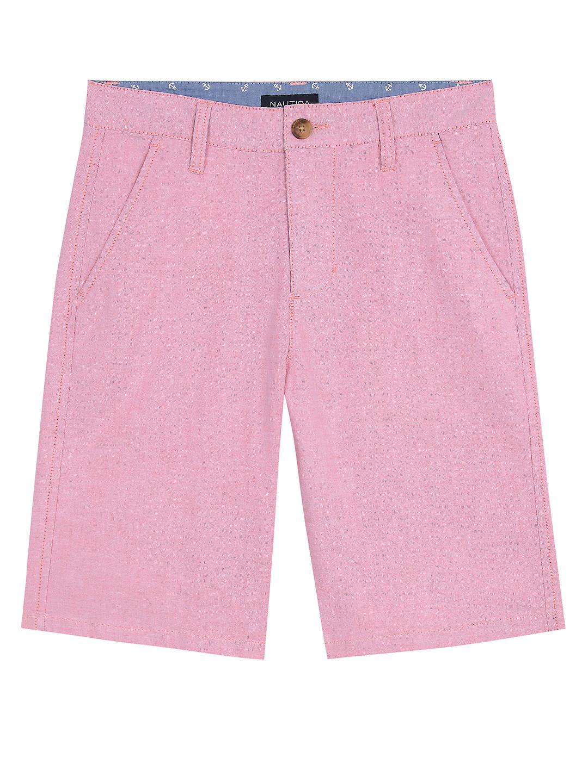 Little Boy's Oxford Flat Front Shorts