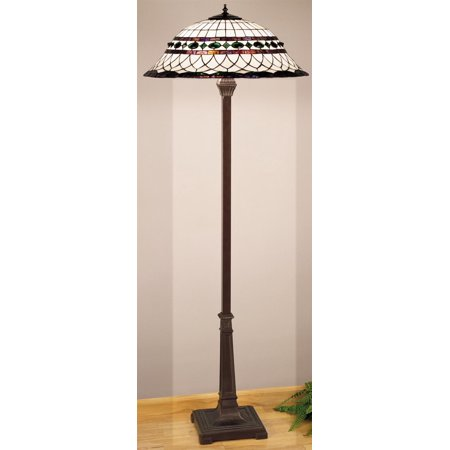 Meyda Tiffany 30369 Stained Glass / Tiffany Floor Lamp from the Tiffany Roman Collection ()