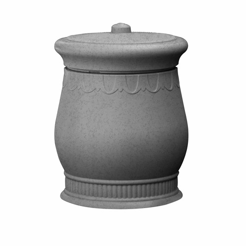 Savannah Urn, Light Granite