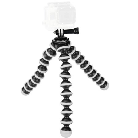 Sabrent Flexible Tripod for standard Tripod mount (GoPro mount adapter included)