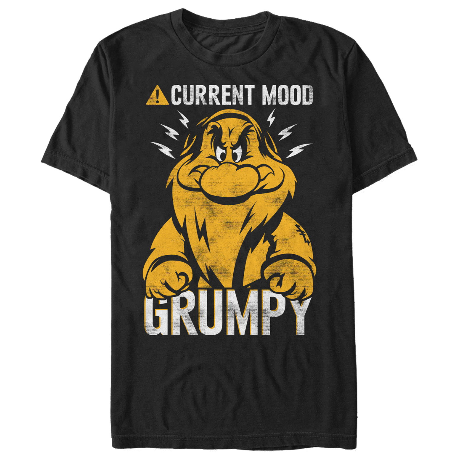 Snow White and the Seven Dwarves Men's Grumpy Mood T-Shirt