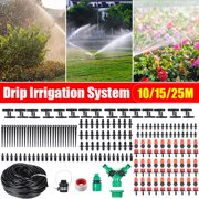 10/20/25M 33/66/82Ft Automatic Micro Water Drip Irrigation System Plant Self Watering Garden Hose Kits For Home Garden Hanging Basket Watering Automatic Kit Plant Flower