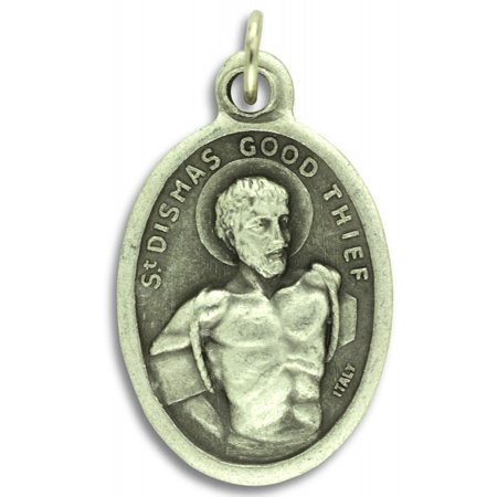 Good Conduct Mini Medal (Lot of 5 - Saint Dismas - The Good Thief / Pray For Us Medal - 1 inch (St. Dismas) )