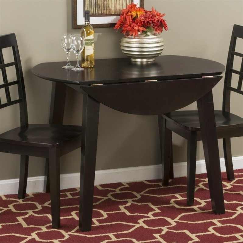 Round Kitchen Table And Chairs Walmart Kitchen Table Sc 1: Jofran Simplicity Round Wood Drop Leaf Table In Espresso