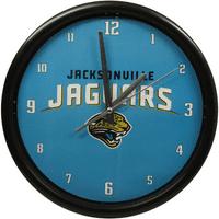Jacksonville Jaguars Black Rim Basic Clock - No Size