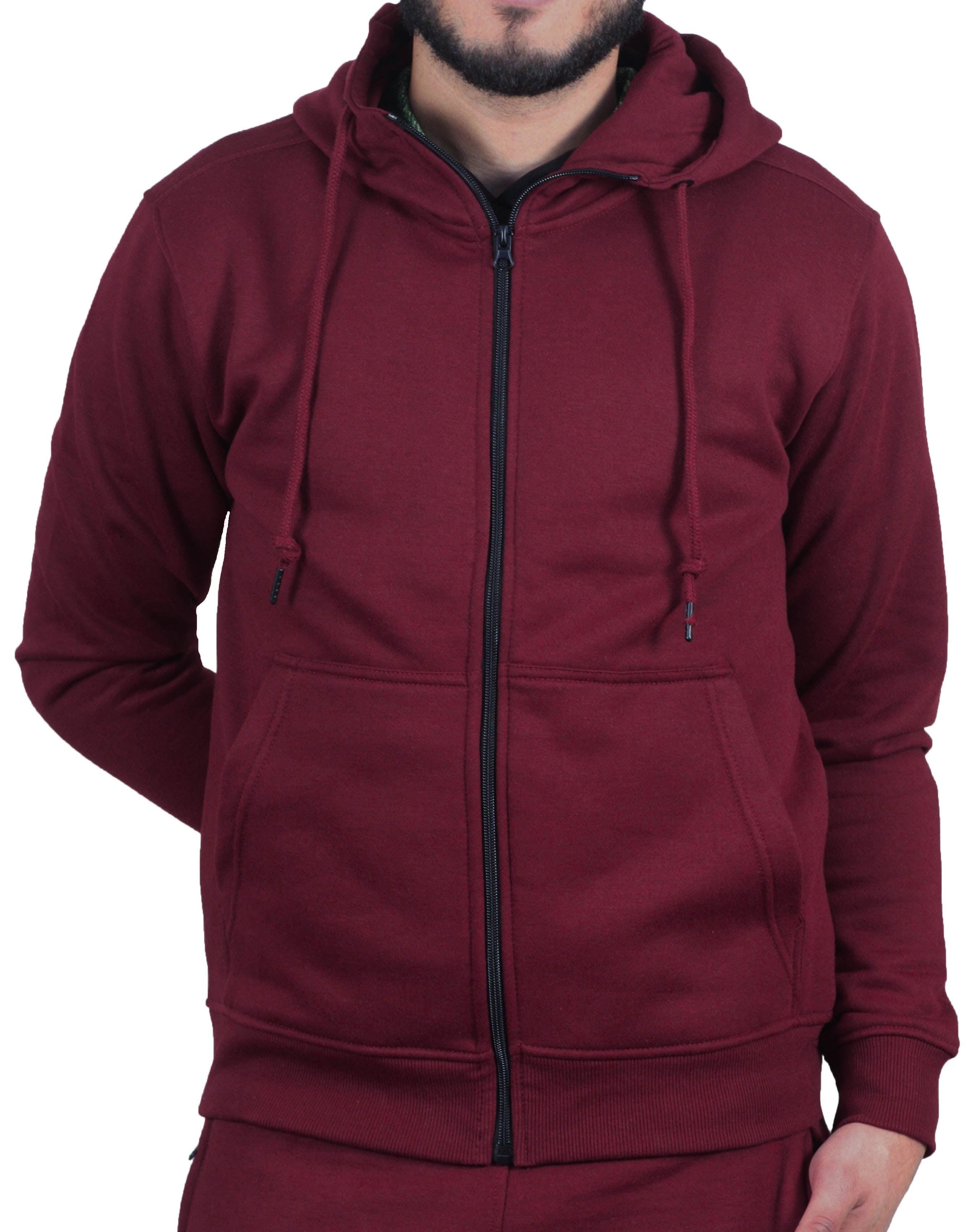 5920c512 Jordan Craig Solid Full-Zip Fleece Hoodie - Walmart.com