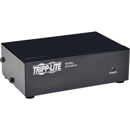 Tripp Lite, TRPB114002R, Two-port VGA/SVGA Video Splitter, 1, Black