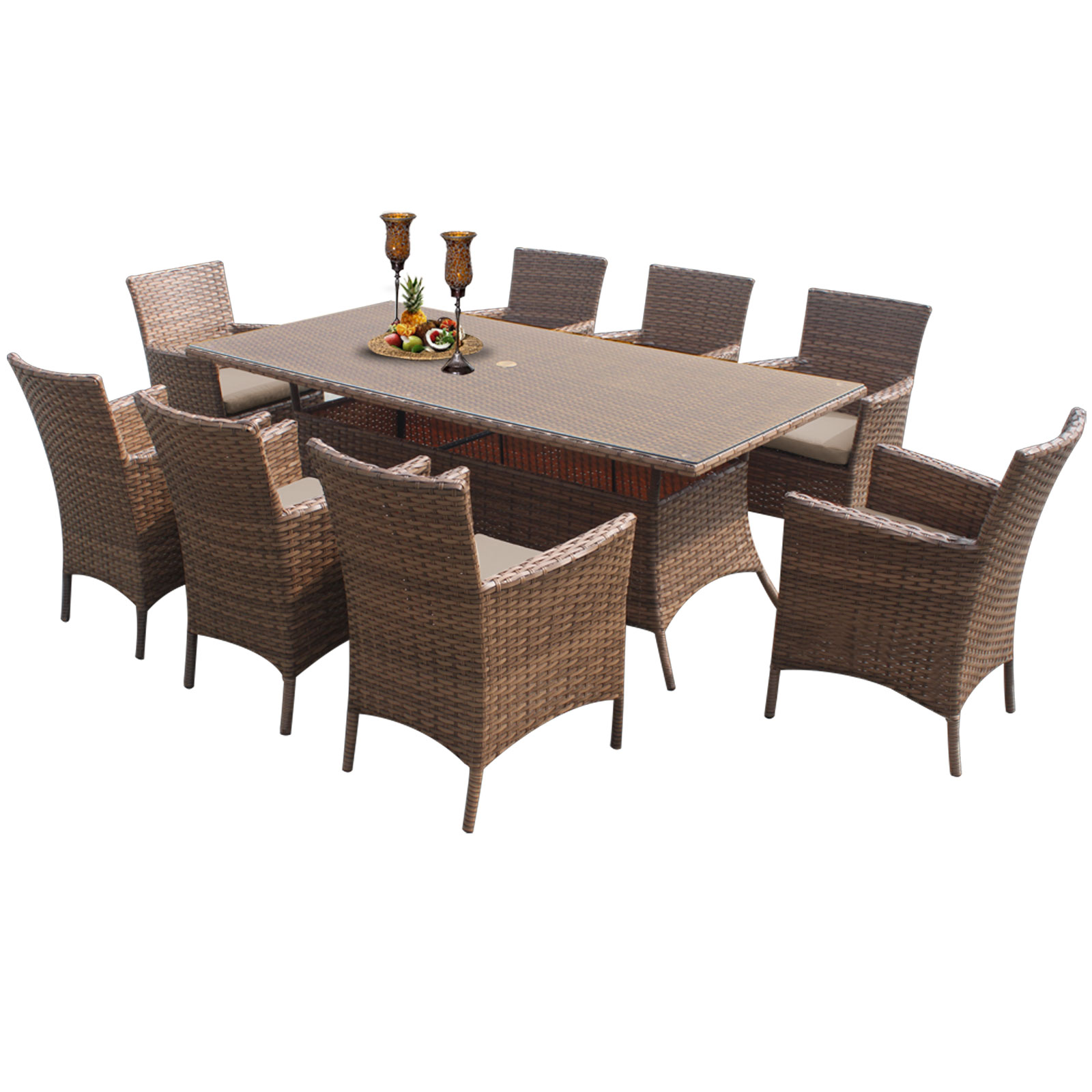 Tuscan Rectangle Dining Table With 8 Chairs