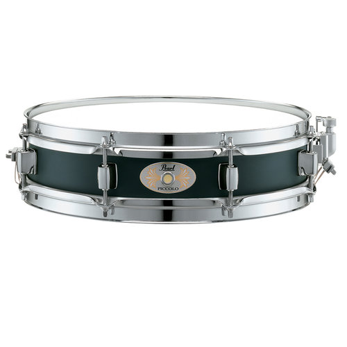 "Pearl 13""x3"" Black Steel Piccolo Snare Drum"