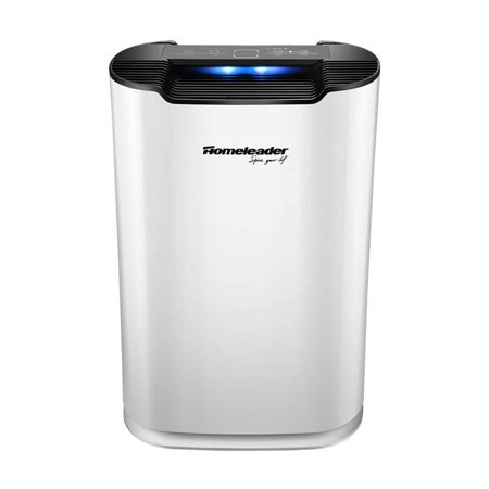 Homeleader Air Purifier with True HEPA Filter Quiet in Bedroom Large Room Home Air Cleaner Traps Allergens, Smoke, Odors, Mold, Dust, Germs, Pet Dander, Air Quality Monitor & Child Lock, 300 sq.