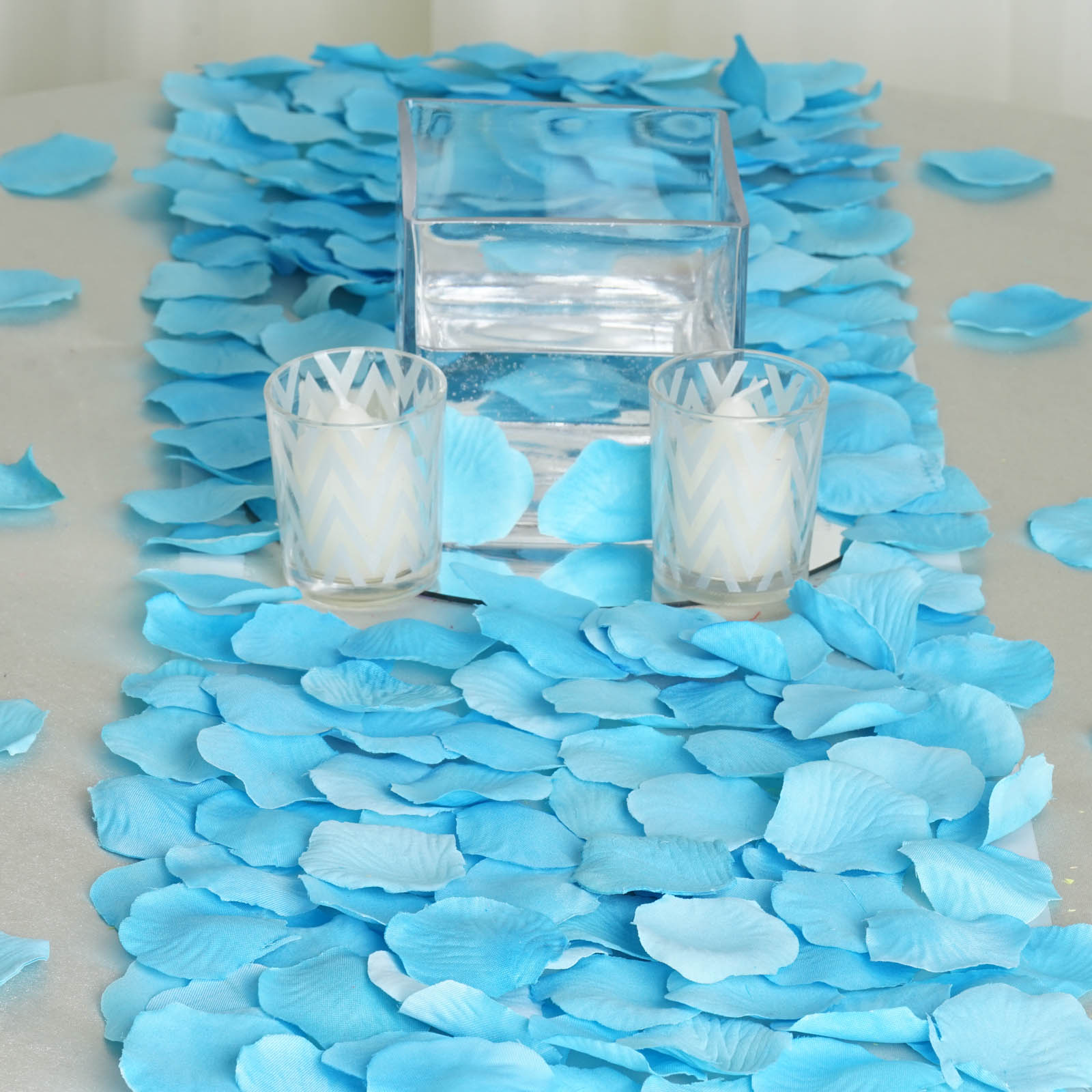 BalsaCircle 500 Silk Rose Petals - Wedding Ceremony Flower Scatter Tables Decorations Bulk Supplies Wholesale