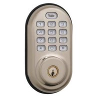 YALE YRD210-US15 Deadbolt Lock,Satin Nickel,12 Button