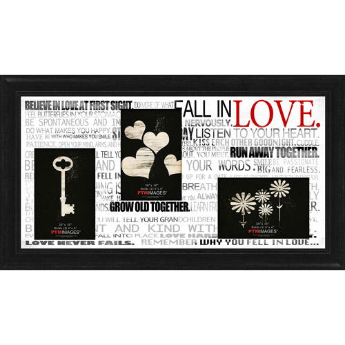 "Fall In Love I 20"" x 10"" Collage Picture Frame"