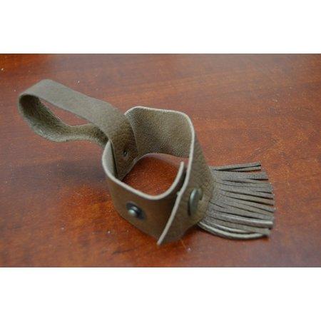 Custom Made Drink Beer Bottle Brown Leather Holster Belt, This drink holder easily hang on your belt. By (Bottle Holster)